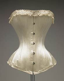 How perfect is the silhouette of this antique corset?